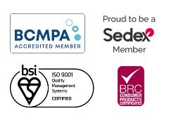 BRC, BCMPA, Sedex, BSI ISO 9001